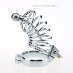 Male Chastity Cage with Removable Urethral Probe